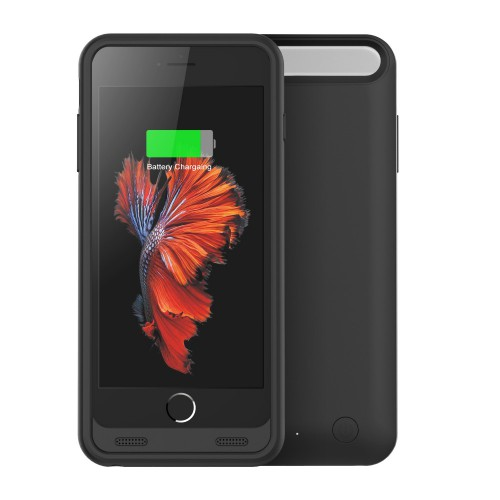 Girafus® 3100mAh High End iPhone 6 / 6S externes Akku Batterie Cover Case Hülle Powerbank-Schwarz – Bild 1