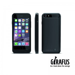 Girafus® 3100mAh High End iPhone 6 / 6S externes Akku Batterie Cover Case Hülle Powerbank-Schwarz – Bild 8